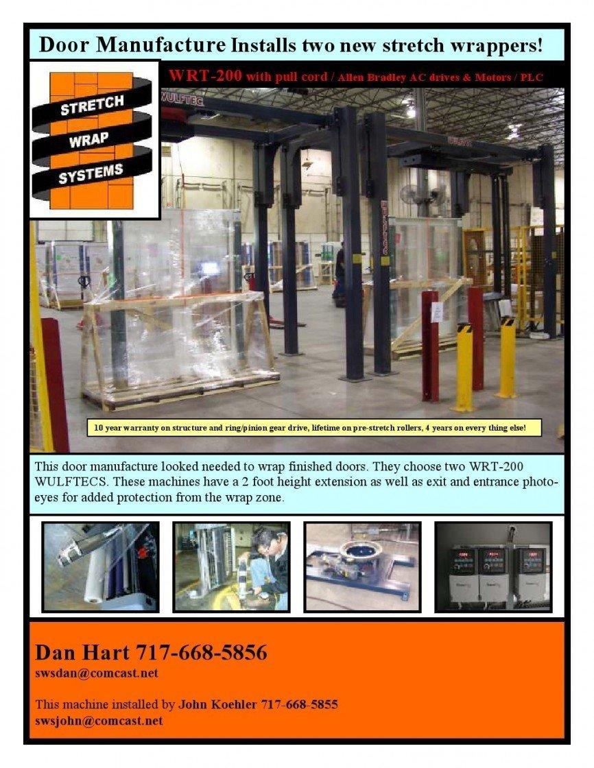 & 18 - WRT-200 Door Manufacture - SWS Packaging
